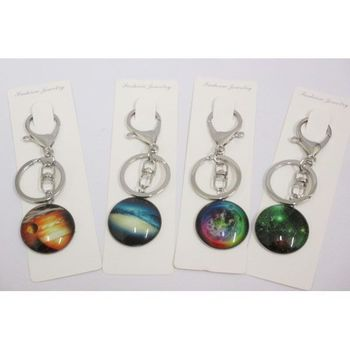galaxy universe in key ring jewels