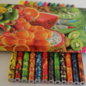 "Crayons de couleur ""12 fruits""ou ""Protect wildlife"""