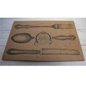 Sets de table en papier Kraft