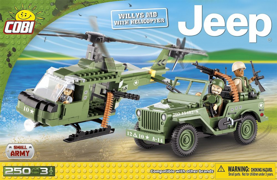 Jeep Willys avec Hélicoptère