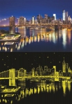 Pont de Brooklyn -  fluorescent