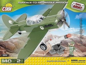 Combat avion lance missile - 140 pcs, 2 figurines
