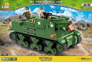 Char M7 Priest 105mm HMC - 500 pcs, 2 figurines