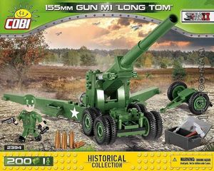 Mitrailleuse 155 MM M1 LONG TOM - 200 pcs - 1 figurine