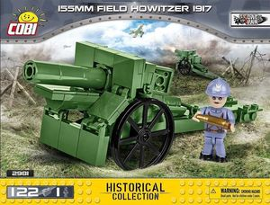 Canon 155 mm Field Howitzer - 122 pcs , 1 figurine