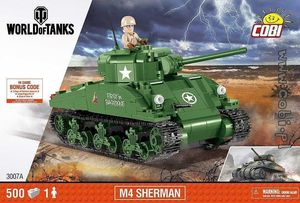 World of Tank - M4 Sherman - 500 pcs , 1 figurine