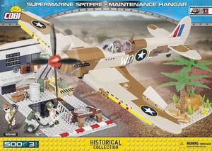 Supermarine Spitfire - Hangar de Maintenance - 500 pcs, 3 figurines