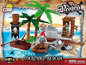 Pirates - L'ile des pirates 140 pcs , 2 figurines
