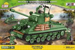 M4A3E8 Sherman Easy eight - 725 pièces - 3 figurines