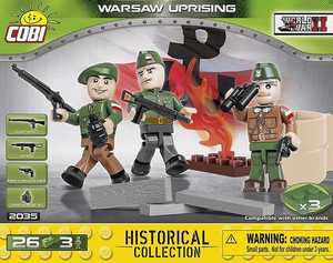 Warsaw Uprising 3 figurines - 3 armes