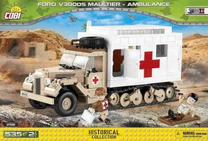 FORD V3000S Maultier Ambulance - 535 pièces - 2 figurines