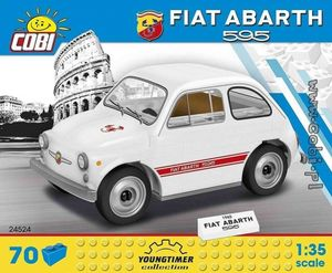 FIAT Abarth 595 blanche - 70 pièces