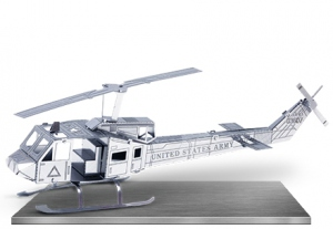 Bell UH1 MetalEarth