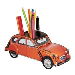 Citroen 2CV orange Pot à crayons à assembler