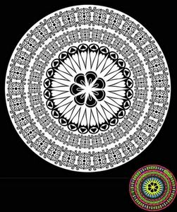 Mandala Affection à colorier