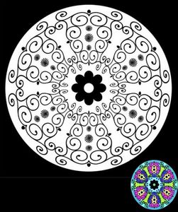 Mandala Blues à colorier
