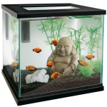 Deco aquarium Bouddha souriant