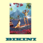 Carte postale BIKINI - Surfing with Lassie