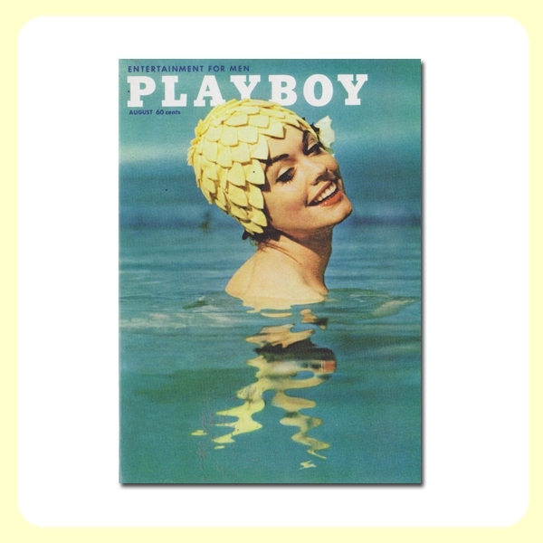 Carte postale dépliante PLAYBOY - August bathing