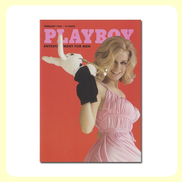 Carte postale dépliante PLAYBOY - February'64