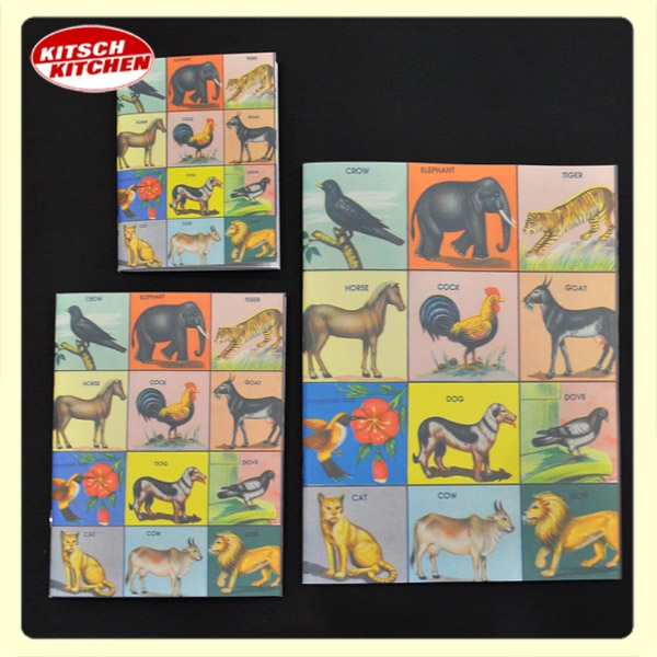 Carnet Kitsch Kitchen - Kindergarten - LES ANIMAUX