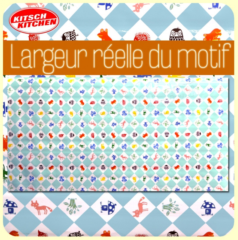 Toile cirée Kitsch Kitchen FOREST FRIENDS - Largeur 140 cm