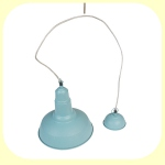 Plafonnier industriel Cloche - Coloris Bleu Fifties