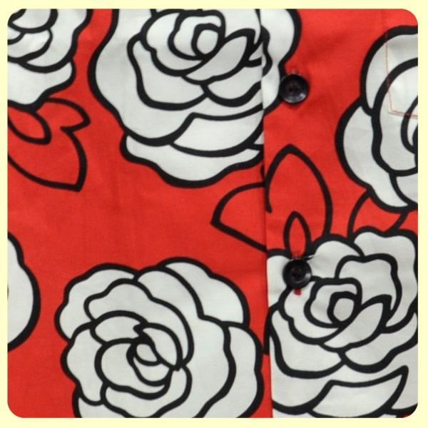 Chemisette coton - Motif ROSES outlined