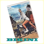 Carte postale dépliante BIKINI - Stunt Girl - Happy birthday