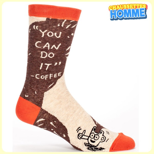 """Chaussettes homme BlueQ - """"You can dot it"""" - Coffee*"""