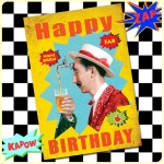 Carte postale dépliante ZAP n°10 - Happy Birthday - Home brew*