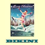"Carte postale BIKINI - Christmas on Ice ""Merry Christmas"""