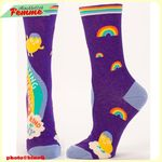 Chaussettes BlueQ - SHITTING RAINBOWS kind of day*