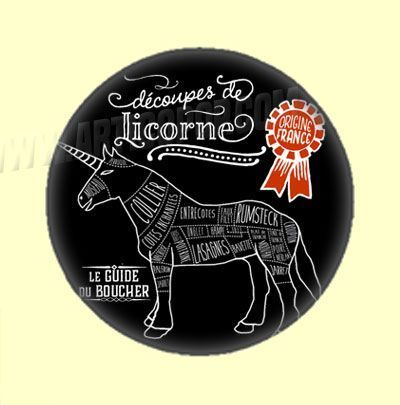 Badge ou Aimant - Le Guide du Boucher - Découpes de Licorne