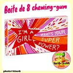 Chewing-gums Goût Fruits  - I'M AGIRL, WHAT'S YOUR SUPER POWER ?*