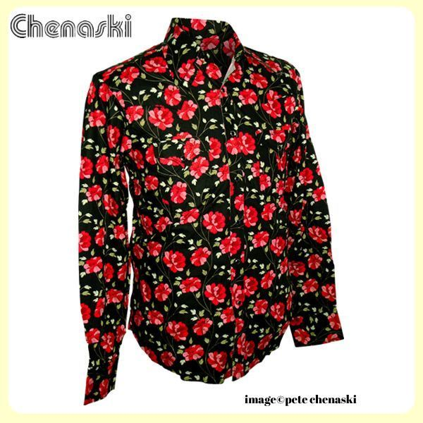 Chemise motif Cowboy with Feelings - Noir/Rouge