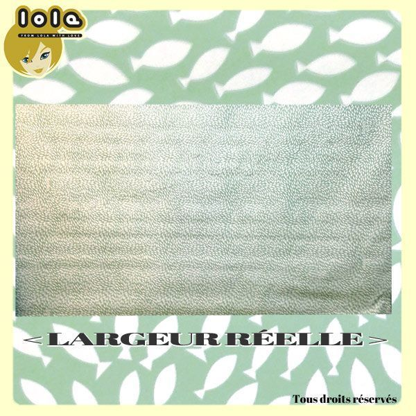 Toile cirée LOLA - Motif GO WITH THE FLOW Jade