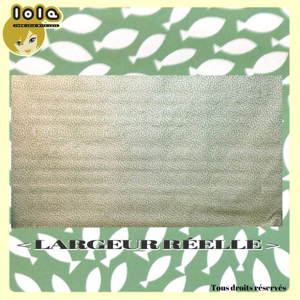 Toile cirée LOLA - Motif GO WITH THE FLOW Cedar green
