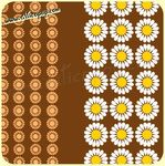 Coupon de toile Vintage DAISY BROWN 73  - 540 x 115 cm