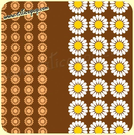 Coupon de toile Vintage DAISY BROWN 73  - 380 x 115 cm
