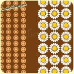 Coupon de toile Vintage DAISY BROWN 73  - 240 x 115 cm