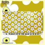 Toile cirée LOLA - Motif SMALL BIG FLOWER Moutarde