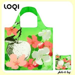 Cabas XL de poche - APPLE AND FLOWERS