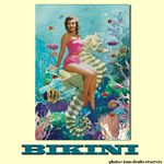 Carte postale BIKINI - Mermaid on seahorse