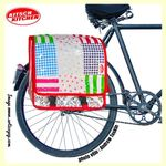 Paire de grandes sacoches pour bicyclette Kitsch Kitchen - Modèle Patchwork EE