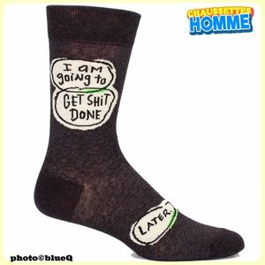 "Chaussettes homme BlueQ - ""I'm going to get shit done. Later""*"