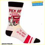 "Chaussettes homme BlueQ - ""PICK-UP truck socks - 'Til death do us part"""