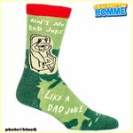 "Chaussettes homme BlueQ - ""AIN'T NO BAD JOKE LIKE DAD JOKE""*"