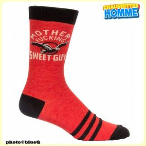 """Chaussettes homme BlueQ - """"Mother Fucking sweet guy""""*"""