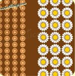 Coupon de toile Vintage DAISY BROWN 73  - 310 x 115 cm